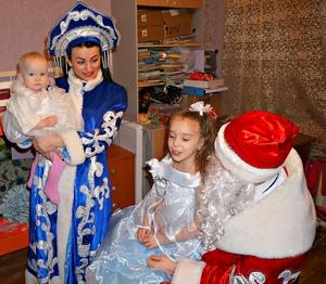 Снежные герои в гостях у семьи Михалёвых